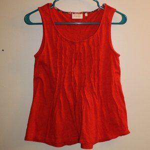 Deletta Small Red Sleeveless Blouse